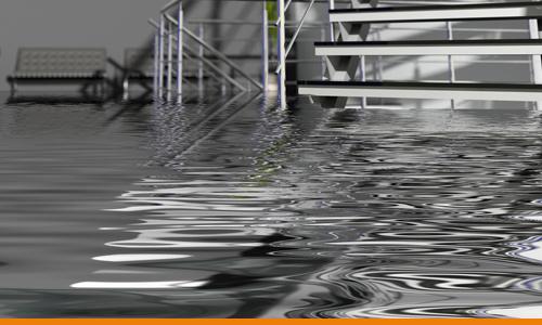 Flood causing data loss in an office