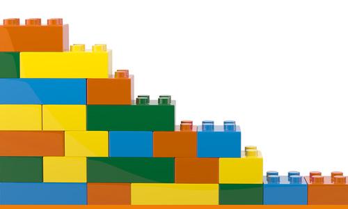 Blocks representing partnership