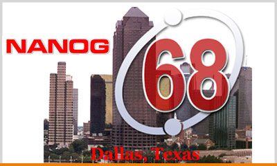 NANOG 68 in Dallas